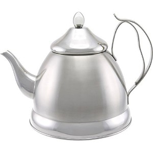 Evco International Creative Home Nobili-Tea Stainless Steel Tea Kettle, 2.0 quart, Silver [並行輸入品]