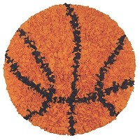 The Rug Market Shaggy Raggy Children's Area Round Rug, Basketball by The Rug Market [並行輸入品]