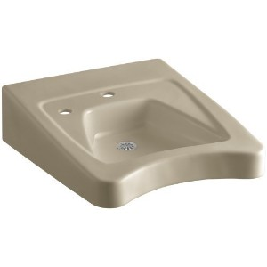KOHLER K-12638-L-33 Morningside Wheelchair Bathroom Sink with Single-Hole Drilling and Soap...