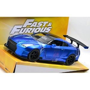 "JADATOYS 1:24SCALE ""FAST & FURIOUS 6"" ""Brian's 2009 NISSAN GT-R (R35) WITH BEN SOPRA BODY KIT""(BLUE..."