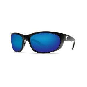 COSTA DEL MAR HOWLER BLACK POLARIZED BLUE MIRROR 580G SUNGLASSES