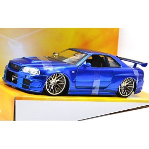 "JadaToys 1:24scale ""FAST & FURIOUS 4"" ""BRAIAN'S NISSAN SKYLINE GT-R R34"" ジェイダトイズ 1:24スケール ..."