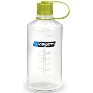 NALGENE NARROW MOUTH 1L/32OZ CLEAR TRITAN BOTTLE WITH GREEN LOOP TOP LID (Parallel Imported Product)