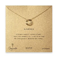 DogearedレディースTriple Karma Ring Necklace , Gold Dipped