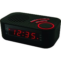 Coby CBCR-100-BLK Digital Alarm Clock with AM/FM Radio and Dual Alarm (Black) by Coby