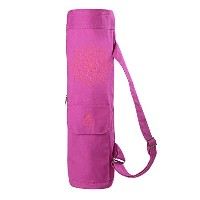 【Gaiam】Full-Zip Cargo Pocket Yoga Mat Bags ガイアム ヨガバッグ マットバッグ (Wild Berry)