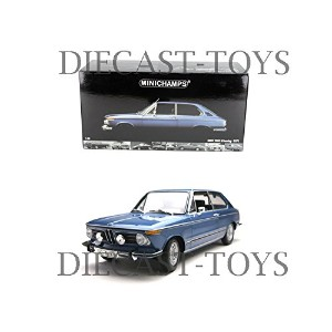 MINICHAMPS-100-021010 1971 BMW 2000 Tii TOURING 1/18 BLUE [並行輸入品]