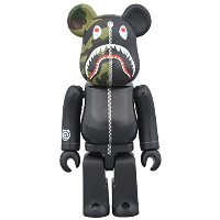 1st CAMO SHARK BE@RBRICK 100% BLACK