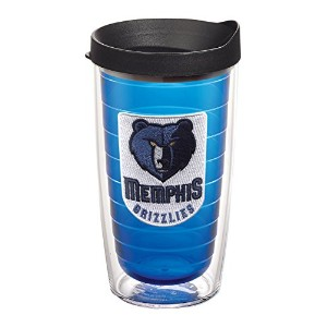 "Tervis 1059581 "" NBA Memphis Grizzlies "" Tumbler withブラック蓋、16オンス、サファイア"