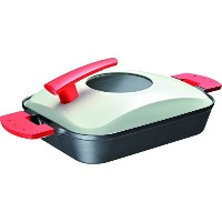 UchiCook 60-1015-20 Steam Grill Metal Cover, Red [並行輸入品]