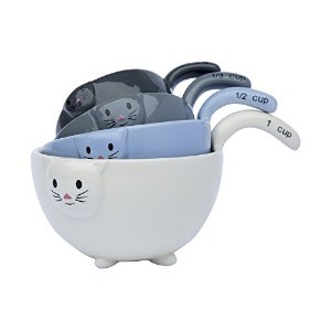 Cute Little Kittensセラミック測定Bowls Set by Comfify–Charming Kitten Measuring Cups in 1/ 4カップ、1/...