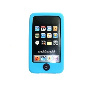 Msfort iPod Touch 2/3 【第2世代/第3世代】シリコンケース iPod Touch 2/3 Silicone Case (ライトブルー)