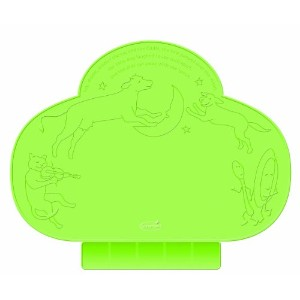 海外直送肘 TinyDiner Portable Placemat Green, Green 1 COUNT