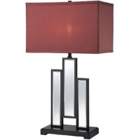 Lite Source LSF-22163 Specchio Table Lamp, Fabric Shade by Lite Source