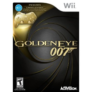 James Bond 007: GoldenEye 007 Classic Edition Hardware Bundle with Gold Wii Classic Controller Pro ...