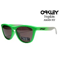 OAKLEY FROGSKINS SUNGLASSES PRIZM DAILY POLARIZED 「GREEN FADE COLLECTION」ASIAN FIT OO 9245-37オークリー...