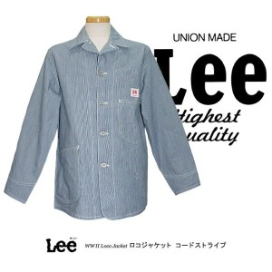 Lee RIDERS THE ARCHIVES VINTAGE MODEL COVERALL WW2 LOCO JACKET ロコジャケット 大戦モデル コードストライプ 02442-42