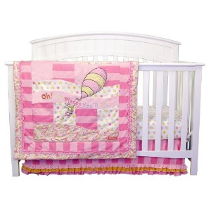Trend Lab Dr. Seuss Oh The Places You'll Go 3 Piece Crib Bedding Set, Pink [並行輸入品]