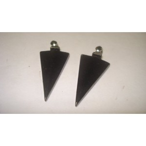 2pcヘマタイトArrowhead Large Natural Crystal Healing宝石のペンダントwith Pre Looped Bail