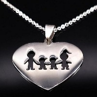 Stainless Steel Love Heart Necklaces For Women