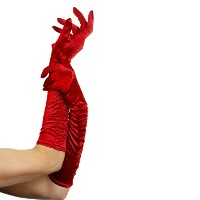 Temptress Long Red Gloves ロング赤い手袋を誘惑する女♪ハロウィン♪サイズ:One-Size