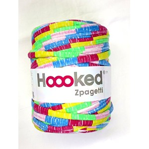 DMC Hoooked Zpagetti #800 ズパゲッティ 手編み用コットン裂き布 (赤/青/黄/ピンク/緑)MIX柄