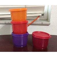Tupperware Be Dazzled Snack Cups 4 Piece Set in Sparkling Shades