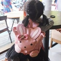 ?Fashion Baby? Girls Cute School Bags Children Anti-lost Leather Backpack walk wings Kids Kindergart...