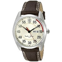 フェラーリ Ferrari Men's 0830175 D 50 Analog Display Quartz Brown Watch [並行輸入品]