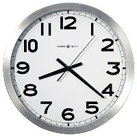 Round Wall Clock, 15-3/4in