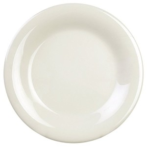 Excellant? Ivory Melamine Collection 5-1/2-Inch Wide Rim Round Plate, Ivory, 12-Piece [並行輸入品]