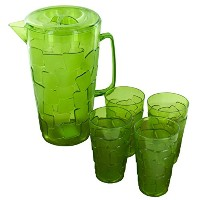Kole Importsプラスチックピッチャーwith Tumblers