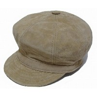 New York Hat(ニューヨークハット) スエードキャスケット #9260 SUEDE SPITFIRE, Tan