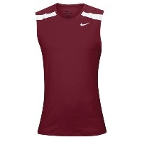 ナイキ メンズ 陸上 トップス【Nike Team Power Stock Race Day Tank】Cardinal/White