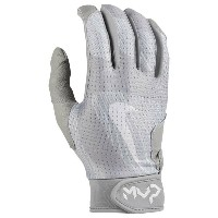 ナイキ メンズ 野球 グローブ【Nike MVP Edge Batting Gloves】Silver/Silver/Platinum