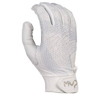 ナイキ メンズ 野球 グローブ【Nike MVP Edge Batting Gloves】White/White/White