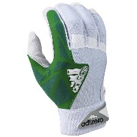 アディダス メンズ 野球 グローブ【adidas EQT adiZero Batting Gloves】White/Green
