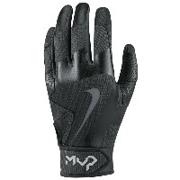 ナイキ メンズ 野球 グローブ【Nike MVP Pro Batting Gloves】Black/Black/Black