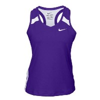 ナイキ レディース 陸上 トップス【Nike Team Power Stock Race Day Tank】Purple/White