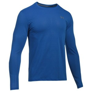 アンダーアーマー メンズ Tシャツ トップス Men's Under Armour HeatGear Streaker Long Sleeve Top Blue Marker/Blue Marker...