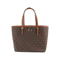 (マイケルコース) MICHAEL KORS トートバッグ アウトレット 35F6GTVT3B JET SET TRAVEL LG CARRYALL TOTE MK SIG COASTED...