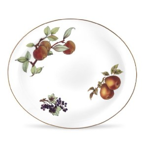 Royal Worcester Eveshamゴールド磁器15-by-12-inch Oval Platter
