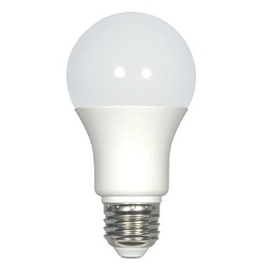 Satco s9213a19LED Frosted 3500K Mediumベースライト電球、7.6W