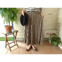 mizuiro-ind(ミズイロインド) washer pleats long skirt(3-267010)