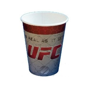 UFCパーティーパック8ペーパーカップ16 Napkins 8 Paper Plates as real as it Gets新しい