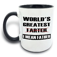 Funny Mug–World 's Greatest Farter , I Mean Father–11オンスコーヒーマグカップ–ギフトのBest Dad Mom夫妻Uncle...