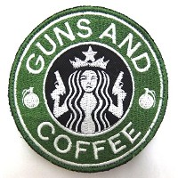 Guns and Coffee Patch パッチ ワッペン