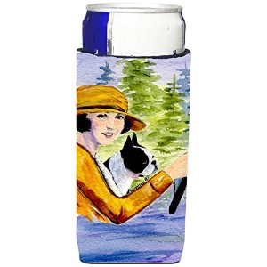 Caroline 's Treasures ss8534-parent Woman Driving with Herボストン・テリアUltra Beverage Insulators...