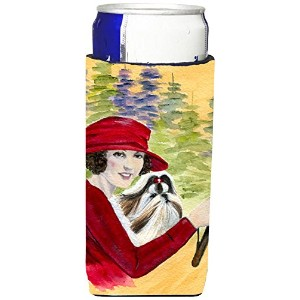 Caroline 's Treasures ss8539-parent Lady Driving with HerシーズーUltra Beverage Insulators forスリム缶ss8539...