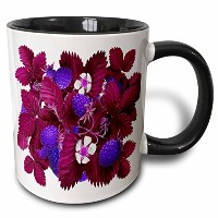 3drose Yves Creations Berriesとフルーツ – Blueberry Festival – マグカップ 11 oz ホワイト mug_76887_4